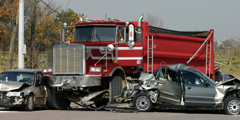 Accidents involving large truck